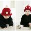 หมวกไหมพรมสำหรับเด็ก หมวกกันหนาวเด็กเล็ก หมวกบีนนี่ สีทูโทน (มี 5 สี) thumbnail 5