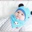 AP207••เซตหมวก+ผ้ากันเปื้อน•• / แพนด้า [สีฟ้า] thumbnail 1