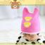 HT449••หมวกเด็ก•• / หมวกบีนนี่-หมีคู่ (สีชมพูเข้ม) thumbnail 3