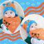 AP149••เซตหมวก+ผ้ากันเปื้อน•• / [สีส้ม] แมวเหมียว+ปลา thumbnail 3