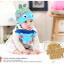 AP130••เซตหมวก+ผ้ากันเปื้อน•• / [สีฟ้า] ปลา thumbnail 2