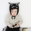 HT512••หมวกเด็ก•• / หมวกไหมพรม-ปีศาจหูตั้ง (สีดำ) thumbnail 3
