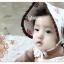 HT098••หมวกเด็ก•• / หมวกถังกุหลาบสีครีม thumbnail 4