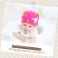 HT401••หมวกเด็ก•• / หมวกบีนนี่-เลขคู่ (สีชมพู) thumbnail 3