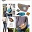 กระเป๋า ANELLO POLYESTER CANVAS SHOULDER BAG สีเทา thumbnail 6