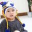 หมวกไหมพรมสำหรับเด็ก หมวกกันหนาวเด็กเล็ก ลายเสือ (มี 5 สี) thumbnail 2