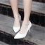 รองเท้าส้นเข็มไซส์ใหญ่ ทรงหัวแหลม ไซส์ 42 สีขาว รุ่น KR0645 thumbnail 7
