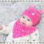AP223••เซตหมวก+ผ้ากันเปื้อน•• / นกฮูก [สีชมพูเข้ม] thumbnail 1