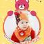 AP105••เซตหมวก+ผ้ากันเปื้อน•• / [สีส้ม] น้องหมี thumbnail 1