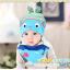 AP130••เซตหมวก+ผ้ากันเปื้อน•• / [สีฟ้า] ปลา thumbnail 1