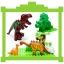 บล็อคตัวต่อพลาสติกขนาดใหญ่ ชุดไดโนเสาร์ สำหรับเด็กเล็ก thumbnail 6