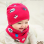 AP227••เซตหมวก+ผ้ากันเปื้อน•• / ดวงตา [สีชมพูเข้ม] thumbnail 3