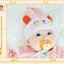 หมวกบีนนี่ หมวกเด็กสวมแบบแนบศีรษะ ลายกระต่ายน้อย (มี 5 สี) thumbnail 19
