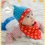 AP180••เซตหมวก+ผ้ากันเปื้อน•• / ดาว [สีฟ้า-แดง] thumbnail 4