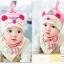 เซตหมวก+ผ้าซับน้ำลาย / ลายหนู (มี 4 สี) thumbnail 13