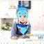AP127••เซตหมวก+ผ้ากันเปื้อน•• / [สีฟ้า+น้ำเงิน] ปลา thumbnail 1