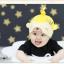 HT406••หมวกเด็ก•• / หมวกบีนนี่-หมีมงกุฎ (สีเหลือง) thumbnail 1
