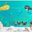 สติกเกอร์แต่งห้อง DIY ลายทะเล ปลาวาฬ เรือดำน้ำ ลอกออกแล้วติดซ้ำได้ thumbnail 5