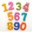 ของเล่นไม้ชุดแม่เหล็กตัวเลข 0-9 แฟนซี รวม 10 ชิ้น thumbnail 1