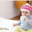 HT329••หมวกเด็ก•• / หมวกแก็ป Monkey (สีชมพู) thumbnail 2