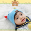 HT423••หมวกเด็ก•• / หมวกบีนนี่-หมียิ้ม (สีฟ้าอ่อน) thumbnail 3