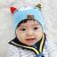 HT423••หมวกเด็ก•• / หมวกบีนนี่-หมียิ้ม (สีฟ้าอ่อน) thumbnail 1