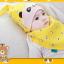 AP143••เซตหมวก+ผ้ากันเปื้อน•• / [สีเหลือง] แพนด้า thumbnail 5