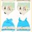หมวกและผ้ากันเปื้อนเด็กอ่อนผ้ายืด 2 หูยาว แฟชั่นลายสัตว์น้อยสุด Chic thumbnail 8