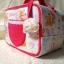 SugarGang กระเป๋าผ้าคอตตอลติดลูกไม้ ไซส์ใหญ่ (พรีเมี่ยม) ขาวแดง thumbnail 3