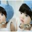 หมวกไพลอท หมวกนักบินมีหูสำหรับเด็ก ลายพื้น ด้านในลายดอกไม้ (มี 2 สี) thumbnail 4