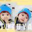 HT444••หมวกเด็ก•• / หมวกบีนนี่-ผีเสื้อ (สีฟ้า) thumbnail 4