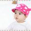 HT319••หมวกเด็ก•• / หมวกแก็ป-ลายวัว (สีชมพูเข้ม) thumbnail 2