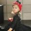 HT309••หมวกเด็ก•• / หมวกไหมพรมหูตั้ง (สีแดง) thumbnail 2