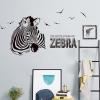 """สติ๊กเกอร์ติดผนังตกแต่งบ้าน """"Zebra III"""" ความสูง 77 cm กว้าง 156 cm"""