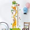 """สติ๊กเกอร์ติดผนังที่วัดส่วนสูงสำหรับเด็ก """"Giraffe and Monkey"""" สเกลเริ่มต้น 50cm ถึง 170cm"""