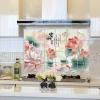 """สติ๊กเกอร์ติดครัวกันน้ำมันกระเด็น """"Bamboo and Lotus"""" ขนาด 60 cm x 90 cm"""