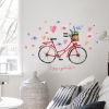 """สติ๊กเกอร์ติดผนังตกแต่งบ้าน """"จักรยาน Enjoy a good ride"""" ความสูง 73cm กว้าง 110 cm"""