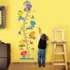 """สติ๊กเกอร์ติดผนังที่วัดส่วนสูงสำหรับเด็ก """"Cute Elephant"""" สเกลเริ่มต้น 50cm ถึง 170cm"""