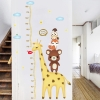 """สติ๊กเกอร์ติดผนังตกแต่งบ้าน """"ที่วัดส่วนสูงยีราฟกับหมีน้อย"""" สเกลเริ่มต้น 40 cm ถึง 170 cm"""