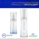 Jeunesse Luminesce Cellular Rejuvenation Serum เซลลูลาร์ รีจูวีเนชัน เซรัม 15ml.+Jeunesse LUMINESCE Flawless Skin Brightener เจอเนสส์ ลูมิเนสส์ ฟลอเลส สกิน ไบร์ทเทนนิ่ง ผิวขาวสว่างใส รักษาฝ้า