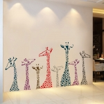 """สติ๊กเกอร์ติดผนังตกแต่งบ้าน """"ยีราฟ Giraffe"""" ความสูง 70 cm ยาว 140 cm"""