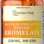 สับปะรดช่วยย่อยอาหาร Puritan's Pride Bromelain 250 mg 300 GDU/gram 120 เม็ด