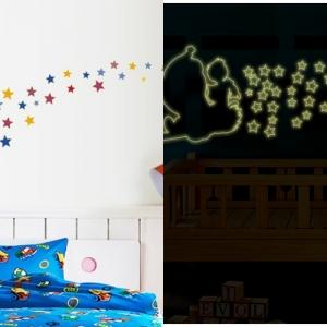 """สติ๊กเกอร์เรืองแสงตกแต่งห้องเด็ก """"โดเรม่อน Doraemon"""" ความสูง 80 cm กว้าง 220cm"""