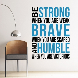 """ไวนิล สติ๊กเกอร์ติดผนัง ตกแต่งบ้าน """"Be Strong"""" ความสูง 78 cm ความกว้าง 57 cm"""