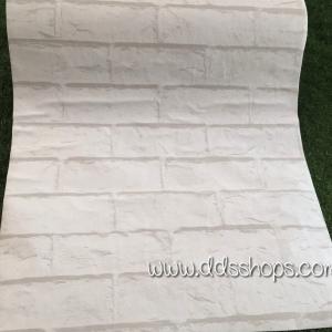 "Wallpaper Sticker วอลล์เปเปอร์แบบมีกาวในตัว ""ลายอิฐขาว"" หน้ากว้าง 53cm (ขั้นต่ำ 3m คละลายได้) ตัดขายตามความยาว เมตรละ 110 บาท"