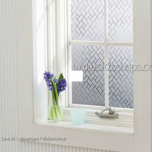"PVC สูญญากาศติดกระจก ""Static Block Shape"" หน้ากว้าง 90 cm ราคาต่อเมตร 270 บาท"