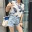 เสื้อเชิ้ตใบไม้แขนสั้น ผ้าป่านเกาหลี thumbnail 3