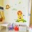 """สติ๊กเกอร์ติดผนัง """"สิงโต Happy Animal Friend"""" ความสูง 110cm ยาว 145cm thumbnail 3"""