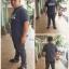 """กางเกงChinoขายาว ผู้ชายอ้วน ทรงกระบอกเล็ก (สีเทาอากาศ) 38-46"""" thumbnail 6"""