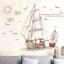"""สติ๊กเกอร์ติดผนังตกแต่งบ้าน (AU) """"เรือ Sailboat"""" ความสูง 89 cm ยาว 120 cm thumbnail 2"""